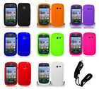Car Charger + Silicone Cover Case for Samsung Galaxy Centura S738c Phone
