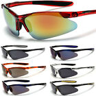 Men's Women's Cycling Water Sports Golf Wrap Around Sunglasses Red Black Glasses