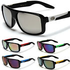 X-Loop Flat Top Sport Sunglasses Men's Fashion Shades White Mirror Red UV400 New