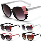 Hello Kitty Bow & Whiskers Women's Round Glasses Black White Pink Sunglasses New
