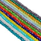 Rondelle & Bicone Crystal Glass Spacer Loose Beads Charms 4 6 8 mm Any Colors