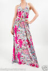 Tolani 100% Silk V-Neck Maxi Dress in Multi 8441