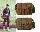 New Hot Men's Vintage Canvas Leather School Military Shoulder Bag Messenger Bag