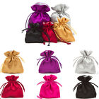Fully Lined Luxury Satin Pouches Pouch Jewellery Gift Pouch All Sizes & Colours