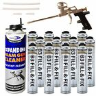 Expanding Foam Kit Including 1 x Professional PU Gun, 1 x Cleaner & 750ml Cans