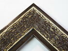 "2.3"" Mayan Distressed Espresso Solid Wood Canvas Picture Frame-Custom Standard"
