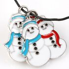 15/75pcs Colorful Enamel Snowman Bear Santa Claus Charms Alloy Pendants For XMAS
