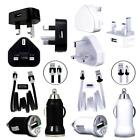 MiCRO USB MAiNS TRAVEL CAR CHARGER ADAPTOR DATA CABLE FOR Nokia Asha 309 n Model