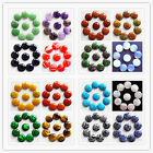 10 pcs Beautiful Mixed Gemstone Round 20x5mm CAB CABOCHON C255