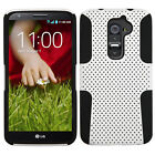 For LG G2 4G LTE MESH Hybrid Silicone Rubber Skin Case Phone Cover Accessory