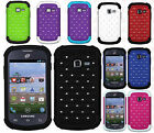 For Samsung Galaxy Centura S738C HYBRID IMPACT Dazzling Diamond Phone Case Cover