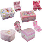 GIRLS CHILDRENS MUSICAL ROTATING FAIRY BALLERINA JEWELLERY BOX PINK KIDS DOLL