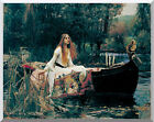 The Lady of Shalott by John William Waterhouse Painting Repro Stretcher Artwork