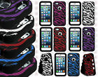 For iPhone 5 5S Rubber IMPACT TUFF eNUFF Silicone HYBRID Skin Phone Case Cover