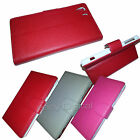 Accessories For Sony Xperia Z1 Colour PU Leather Wallet Case Cover & Screen Film