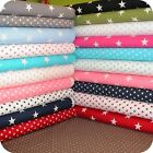 Big and Small Stars Fabric 1 METRE 100% Cotton Extra Wide Patchwork & Craft.