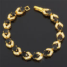Xmas Costume Jewellery Round Cut 18k Yellow Gold Plated Tennis Bracelet Chain