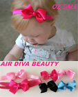 Girl Baby Toddlers Kids pink Children Princess ribbon hair Bow Clip Headband