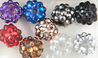 50  x Resin Acrylic Rhinestone Shamballa Bracelet Making DISCO Ball Beads, DIY