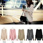 NW WOMENS KNITTED CARDIGAN BATWING OUTERWEAR CASUAL LOOSE SWEATER COAT TOPS BD4K