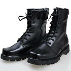 Men's Moda Essentials Combat Boots Work Round Lace-Up Boots Military Black X198