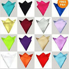 HOT Solid Retro Style Wedding Men's Handkerchief Pocket Square Hanky luxury-UKEW