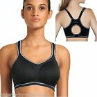 Freya Active AA4891 Black Moulded Racer Back Sports Bra Sizes 28 to 40 DD-H Cups