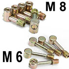 5X Furniture Screws Fiting Cap Nuts Connecting Bolts Cabinet Connector M6/M8 New