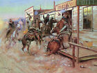 In Without Knocking Charles Marion Russell Western Fine Art Print Painting Repro