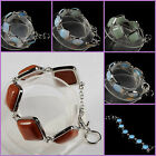 Opalite aventurine golden sandstone goldstone adjustable bracelet 7-9""