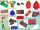 Lot 2 Christmas Silicone Mold Chocolate Craft Soap Candle Cake Pudding Decorate