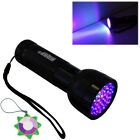 HQRP 100 76 51-LED 390 nM Ultra Violet Blacklight UV Flashlight Torch Light Kit