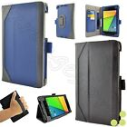 caseen Google Nexus 7 2nd Generation FHD 2013 Genuine Leather Case Smart Cover