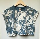 Tie dye Acid wash Grunge crop top oversized Hipster Indie cropped T Shirt vest