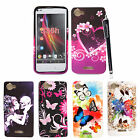 FOR SONY XPERIA L S36H C2105 STYLISH PRINTED SILICONE GEL BACK CASE COVER+STYLUS