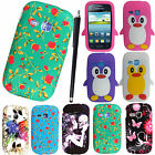 FOR SAMSUNG GALAXY YOUNG S6310 NEW PRINTED SILICONE GEL BACK CASE COVER + STYLUS