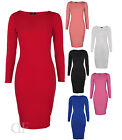 NEW LADIES WOMENS MIDI BODYCON ZIP BACK TUBE PENCIL FITTED DRESS SIZE 8-14