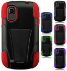 AT&T Avail 2 Advanced Layer HYBRID KICKSTAND Rubber Protector Phone Case Cover