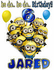 MINIONS BIRTHDAY BE-DO T-SHIRT PERSONALIZED ALL SIZES!