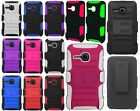 Alcatel ONETOUCH Evolve Hybrid Combo Holster KICKSTAND Rubber Case Phone Cover