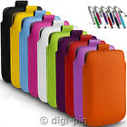 COLOUR (PU) LEATHER PULL TAB POUCH CASE & STYLUS PEN FOR ACER MOBILE PHONES