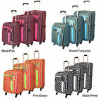 World Traveler Polka Dot Delight 3-piece Expandable Lightweight Spinner Luggage