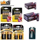 New Duracell Procell Batteries AA AAA C & D Types Alkaline Battery Each or Packs