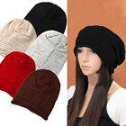 High Quality Unisex Plicate Baggy Beanie Fold Knit Crochet Oversized Slouch Cap