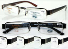 R408 Semi-Rimless Reading Glasses+50+75+100+125+150+200+225+250+275+300+325+350