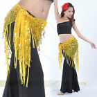 Belly Dance Dancing Hip Scarf Triangle Sparkly Sequins Shawl Dancewear Costumes