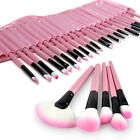 Pro 32Pcs PINK Pouch Bag Case Superior Soft Cosmetic Makeup Brush Set Kit