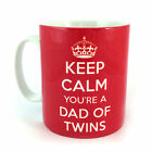 KEEP CALM YOU'RE A DAD OF TWINS GIFT MUG CUP CARRY ON NEW PREGNANCY SCAN BIRTH