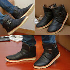 NEW Winter Men Warm Leisure Leather High Top Loafers Shoes Ankle Boots Sneakers