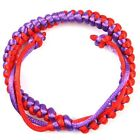 10/50String Popular Double Color Cord Weave Braided Bracelet Wristband For Gift